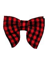 Tiekart Red Checkered Men Bow Tie