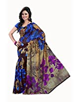 Lineysha Boutique Printed Gorgeous Soft Georgette sari with Blouse, makes a women more gorgeous,graceful and elegant - Multicolor