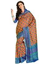Orbymart Exclusive Designer Raw Silk Multi Colour Printed Saree - 55251266