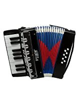 DLuca G104-BK-PL Kids Piano Accordion 17 Keys 8 Bass, Solid Black