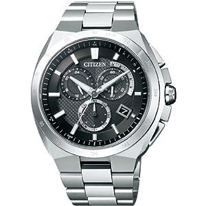 【クリックで詳細表示】[シチズン]CITIZEN 腕時計 ATTESA アテッサ Eco-Drive エコ・ドライブ 電波時計 クロノグラフ AT3010-55E メンズ: 腕時計通販