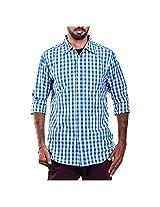 Urban Polo Club Men's Casual Shirt -Blue, (Medium)