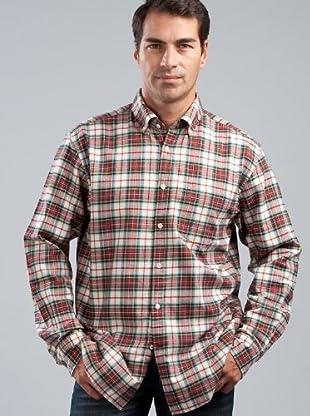 Cortefiel Camisa Cuadros (verde / rojo / crudo)
