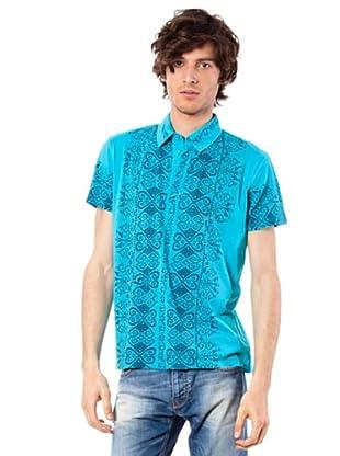 Custo Poloshirt Plum (Türkis)