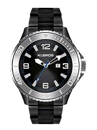 K&BROS 9564-1 / Reloj de Caballero  con brazalete metálico Negro