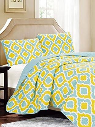 Luxury Home 3-Piece Sanford Cotton Coverlet Set