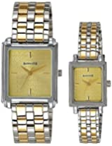 Sonata Analog Champagne Dial  Couple's Watch - 70538080BM01