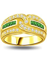 0.52ct tcw Diamond, Emerald 18kt Engagement Ring