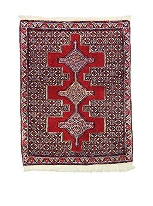 L'EDEN DEL TAPPETO Alfombra Senneh Rojo/Multicolor 83 x 104 cm