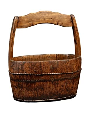 Antique Revival Shanghai-Style Water Bucket, Natural