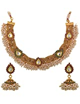 Dishi imitation jewellery gold plated chandani necklace set Charm jewellery set for Women
