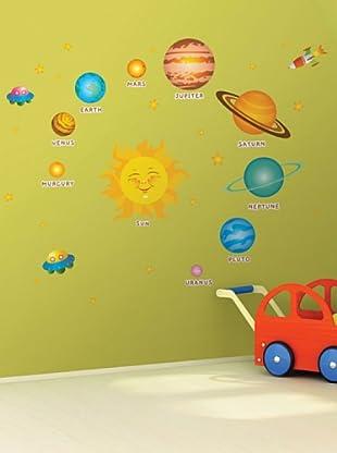 Vinilo El sistema solar para niños Multicolores