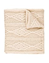 Noble Mount Mens Cable Knit Infinity Scarf - Beige