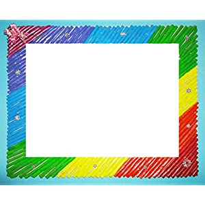 Cherish-a-Design Colorful Paper Straw Picture Frame