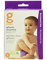gDiapers gPants Pouches, Medium/Large/X-Large (6 Count)