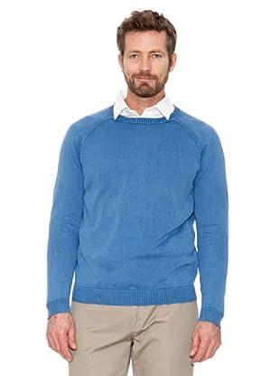 Cortefiel Pullover Basic (Blau)