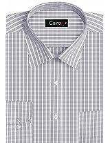 Cairon Black Check Executive Formal Shirt Sf-B4367_B