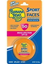 Banana Boat SPF 50 Sport Performance Zinc Sunscreen for Face, 2 Ounce