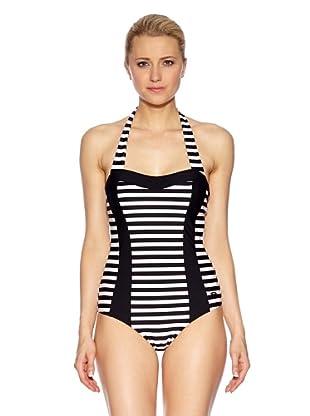 Susa Badeanzug mit Schale (schwarz/weiß)