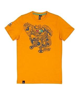 El Niño Camiseta Manga Corta Monkey (naranja)