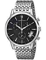 Claude Bernard Men's 01002 3M NIN Classic Chronograph Analog Display Swiss Quartz Silver Watch