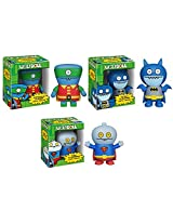 Complete Set of 3 Uglydoll x DC Comics Designer Vinyl Figures by Funko