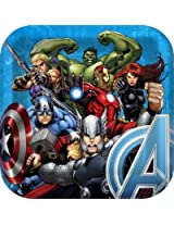 """Avengers Assemble 9"""" Square Lunch/Dinner Paper Plates (8 ct)"""