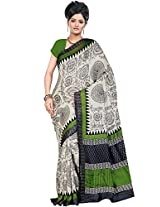 Tagbury multi colour jute silk saree