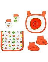 Infant Girls Accessories Set Pack Of 4, Multi Colour (Newborn)
