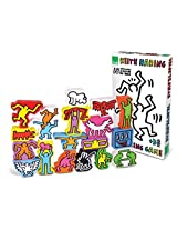 Vilac Set of 18 Keith Haring Stacking Figures