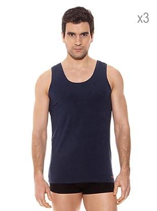 Pierre Cardin Pack x 3 Camisetas Tirantes (Marino)