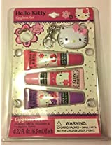 Hello Kitty Lipgloss Set Includes Keychain, Mirror And 3 Tubes