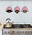 Gloob Cup Cake Face Wall Sticker