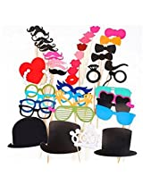 My Party Suppliers Premium Quality Photo Booth Props Glasses Mustache Lip On A Stick Wedding Birthday Party Fun Favor 1Set of 44pcs