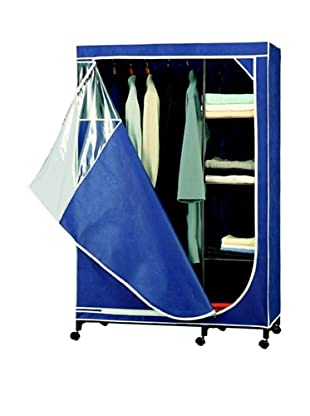 Organize It All Blue Storage Armoire