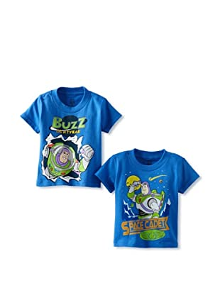 Freeze Boy's Toy Story Buzz 2 Back T-Shirt Bundle (Royal/Royal)