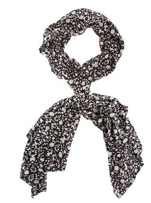 American Vintage Foulard hojas (blanco / negro)