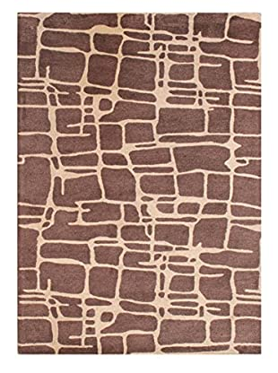 Animal Geo Rug, Brown, 5' x 8'