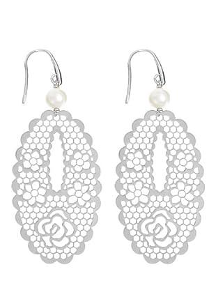 Le Perla di Emi Kaway Pendientes Bianka Plata Perla 8-8.5 mm