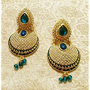 Designer bollywood jhumka jewellery earrings for navratri,diwali,wedding-lfer006