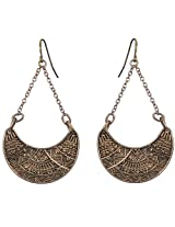 Saadi Gali Brass Dangle & Drop Earring For Women (Gold)