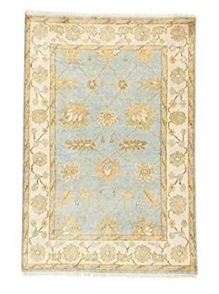 eCarpet Gallery One-of-a-Kind Hand-Knotted Royal Ushak Rug, Light Blue, 4' x 5' 10