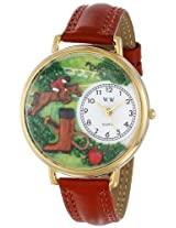 Whimsical Watches Unisex G0810020 Horse Competition Brown Leather Watch