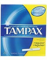 Tampax Cardboard Applicator Tampons, Regular Absorbency - 20 Count
