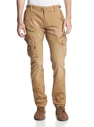 PRPS Men's Savoy Slim Fit Washed Safari Cargo Pant (Sahara)
