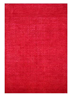 nuLOOM One-of-a-Kind Vintage Hand-Knotted Overdyed Rug, Fire Pink, 8' 7