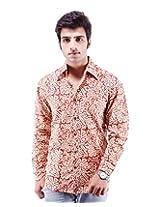 Albelishop Men's Button Front Shirt (FI010_XXL, Multi-Colour, XXL)