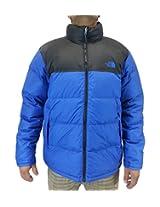 New The North Face Men's Nuptse Jacket Monster Blue/TNF Black Small