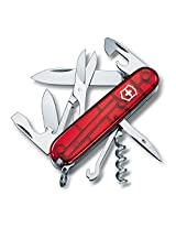 VICTORINOX Army Knife 14 Functions Climber Red Transparent 1.3703.TB1