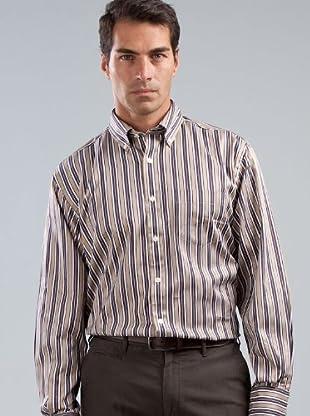 Cortefiel Camisa Rayas (marrón)